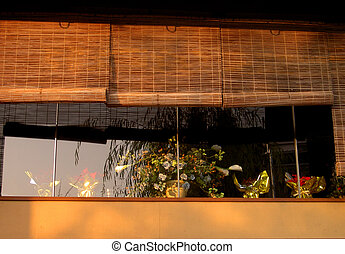 Window in Gion - A detail of a traditional wooden house in ...