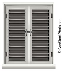 Window in gray color