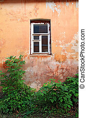 window in old house