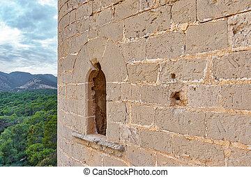 Window in the castle wall