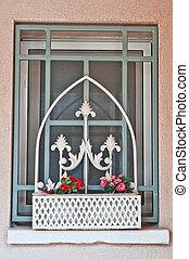 window in the farmhouse