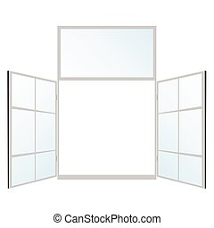 window in white color vector illustration