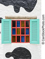 Window in white wall