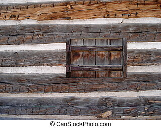 Window in Wooden Wall