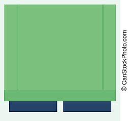 Window jalousie icon, flat style