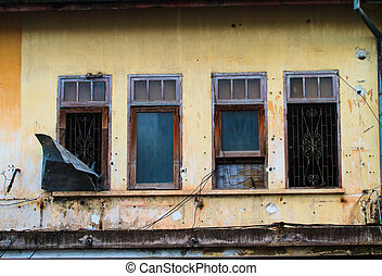 Window of a old wooden house
