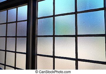 Window of an old industrial building