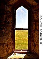 Window of an old rural church