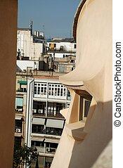 Window of Casa Mila - Barcelona, by Gaudi