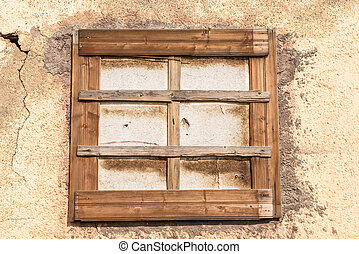 Window of decaying building