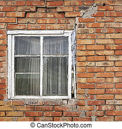 window of old house background