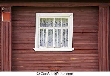 Window of rural house