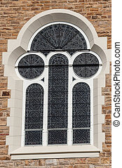 Window of the Christuskirche in Windhoek, Namibia