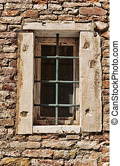 window of the old Italian house in Venice