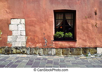 window of the old wall