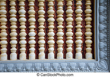 Window of The royal palace in Phnom Penh, Cambodia.