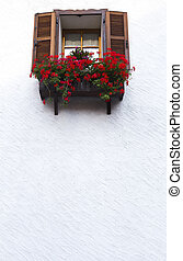 Window on a white wall