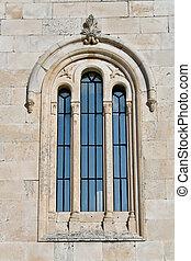 Window on mediterranean church