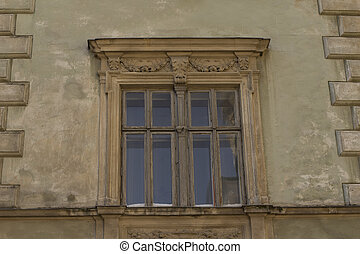 window on the facade of building
