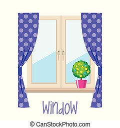 Window on white background