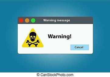 Window operating system error warning. Illustration on white isolated background.