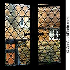 window pane - old England