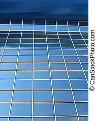 Window panels on a office building