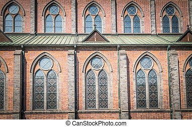 Window pattern of Cathedral church 2