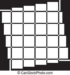 Window perspective transparent on black