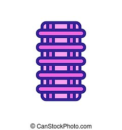window protection icon vector outline illustration