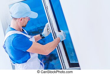 Window Replacement Installation by Professional Caucasian...