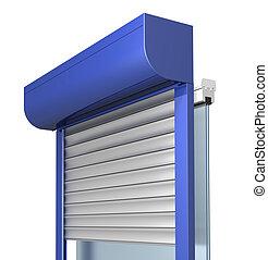 window shutter system construction, three dimensional...