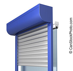 window shutter system construction, three dimensional visualization