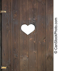 Window shutter with a heart