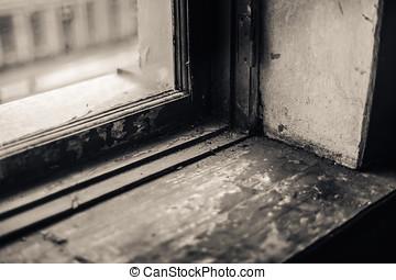 window sill - old window sill Bokeh shallow depth of field...
