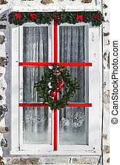 window - christmas decorated window