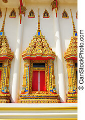 window temple in Thailand
