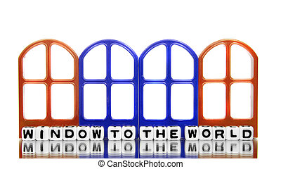 Window to the world with gates
