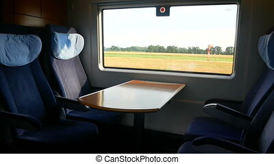 Window train speed ride - Movie on tablet during train ride...