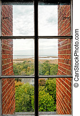 Window view - A view from a window on the Currituck Beach ...
