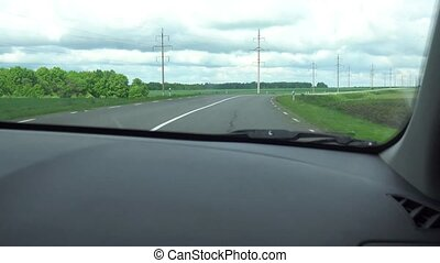 Window View from a Car, Bus, Train. Traveling HD videos -...