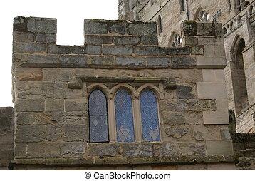 Window, Warwick Castle, England