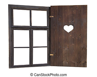 Window with a heart