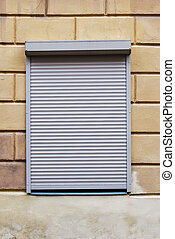window with blinds on the wall