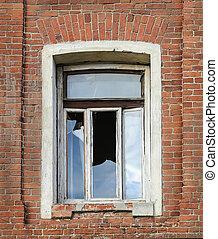 window with broken glass