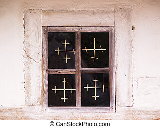 Window with christs