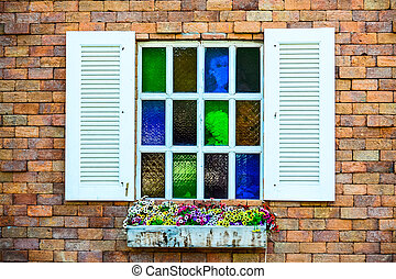 window with flower pot