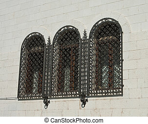 Window with grille