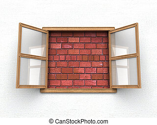 Window with no view - Open window without view