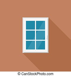 Window with white frame